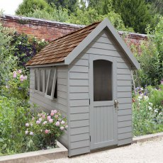 8 x 5  (2.41m x 1.50m) Forest Retreat Redwood Lap Shed PT in Pebble Grey - Free Installation