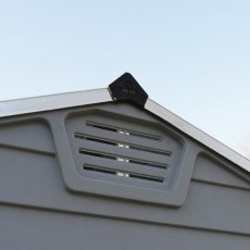 6x5 Palram Skylight Plastic Apex Shed - Dark Grey -  gable ventilation