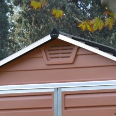 6x10 Palram Skylight Plastic Apex Shed - Amber - gable ventilation