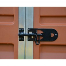 6x10 Palram Skylight Plastic Apex Shed - Amber - door lock