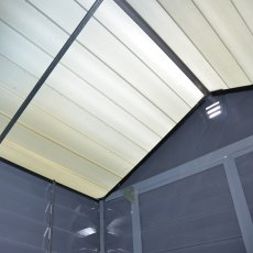 6x12 Palram Skylight Plastic Apex Shed - Grey - skylights