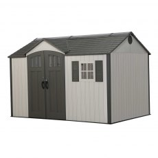 12.5x8 Lifetime Plastic Shed (with Single Entry) - closed door no white background