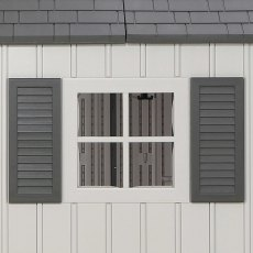 12.5x8 Lifetime Plastic Shed (with Single Entry) - external window and shutter
