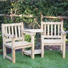 Forest Harvington Love Seat - Pressure Treated