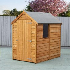 6 x 4 (1.83m x 1.16m) Shire Value Overlap Shed