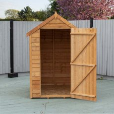 6 x 4  Shire Value Overlap Shed with Window - Door open
