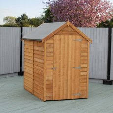 6 x 4 (1.83m x 1.16m) Shire Value Overlap Shed with Window - Door closed