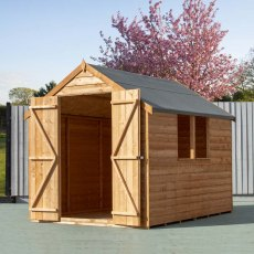 8 x 6 Shire Value Overlap Shed - Double doors open
