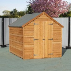 8 x 6 Shire Value Overlap Shed - Alternate angle, doors closed