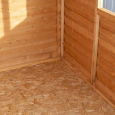 8 x 6 Shire Value Overlap Shed - Framework and floor interior close up