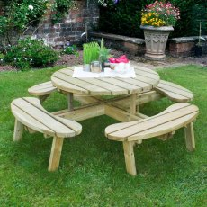 Forest Circular Picnic Table - 8 Seater