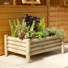Forest Raised Log Planter  - Pressure Treated - 3ft 3in