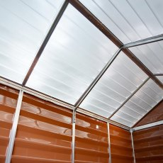 8x12 Palram Skylight Plastic Apex Shed - Amber - skylights