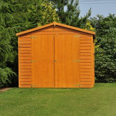 15 x 10 (4.52m x 2.99m) Shire Overlap Workshop Shed with Double Doors - Windowless