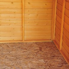 Shire 20 x 10 Overlap Workshop Shed - Windowless - interior of floor