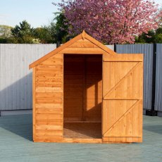 8 x 6 Shire Value Overlap Shed - front view, door open