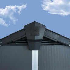 11 x 13 Palram Yukon Plastic Apex Shed - Dark Grey - pinnacle of roof