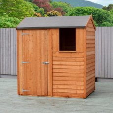 4x6 Shire Overlap Reverse Apex Shed - with window and door on the left hand side