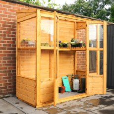 6 x 3 (1.73m x 0.81m) Mercia Traditional Tall Wall Greenhouse
