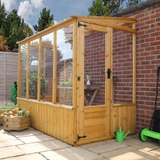 8 x 4 (2.49m x 1.35m) Mercia Premium Lean-to Greenhouse
