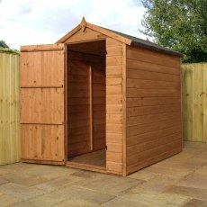 6 x 4 (1.78m x 1.20m) Mercia Shiplap Windowless Apex Shed - Pressure Treated