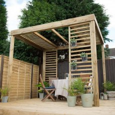 Forest Dining Pergola - Pressure Treated - angled view