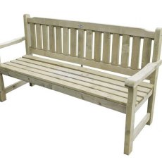 Forest Rosedene 5ft Bench - Pressure Treated - isolated view from side angle