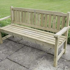 Forest Rosedene 5ft Bench - Pressure Treated - on paved area
