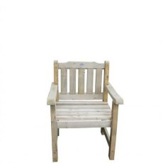 Forest Rosedene Chair - Pressure Treated - isolated view from front angle