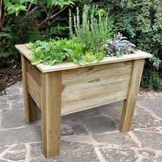 Forest Deep Root Planter - Pressure Treated - 3ft Long - with background