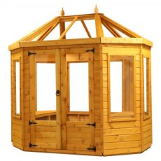 8x6 Mercia Octagonal Greenhouse - isolated with doors closed