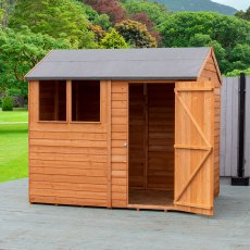 8 x 6 (2.48m x 2.0m) Shire Amaryllis Overlap Reverse Apex Shed with Single Door