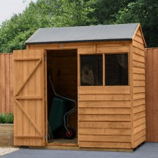 6 x 4 (1.88m x 1.34m) Forest Overlap Reverse Apex Shed