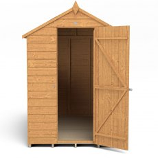7x5 Forest Overlap Apex Garden Shed -  isolated with door located on the right hand side
