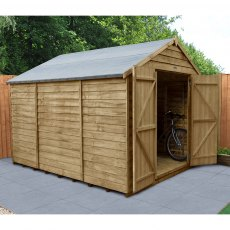 10 x 8 (2.61m x 3.02m) Forest Overlap Shed - Windowless - Pressure Treated