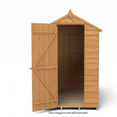 6 x 4 Forest Overlap Apex Garden Shed - isolated with door hinged on the left hand side