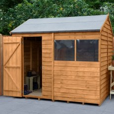 8 x 6 (2.42m x 1.99m) Forest Overlap Reverse Apex Shed