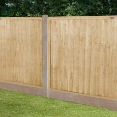 4ft High (1220mm) Forest Closeboard Fence Panel - Pressure Treated