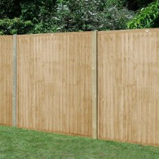 5ft High (1520mm) Forest Closeboard Fence Panel - Pressure Treated