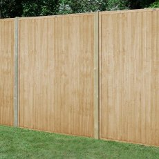 6ft High (1830mm) Forest Closeboard Fence Panel - Pressure Treated