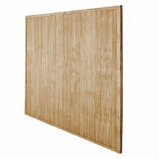 6ft High Forest Closeboard Fence Panel - Pressure Treated - Isolated angled view