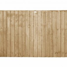 4ft High Forest Featheredge Fence Panel - Pressure Treated - isolated view