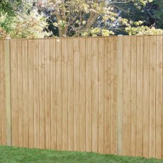 5ft High (1540mm) Forest Featheredge Fence Panel - Pressure Treated