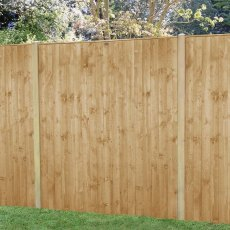 6ft High (1850mm) Forest Featheredge Fence Panel - Pressure Treated