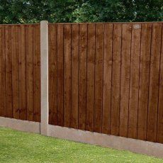 4ft High (1230mm) Forest Featheredge Fence Panel - Brown Pressure Treated