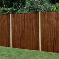 5ft High (1540mm) Forest Featheredge Fence Panel - Brown Pressure Treated