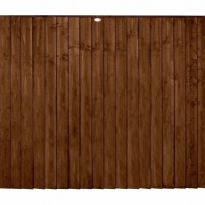 5ft High Forest Featheredge Fence Panel - Brown Pressure Treated - Isolated View