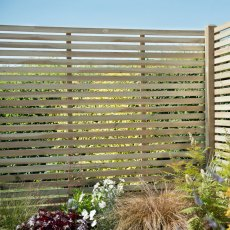 5ft High (1500mm) Forest Single Slatted Fence Panel - Pressure Treated