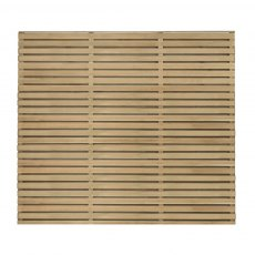 5ft High Forest Double Slatted Fence Panel - Pressure Treated - isolated front view