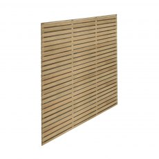 5ft High Forest Double Slatted Fence Panel - Pressure Treated - isolated angled view